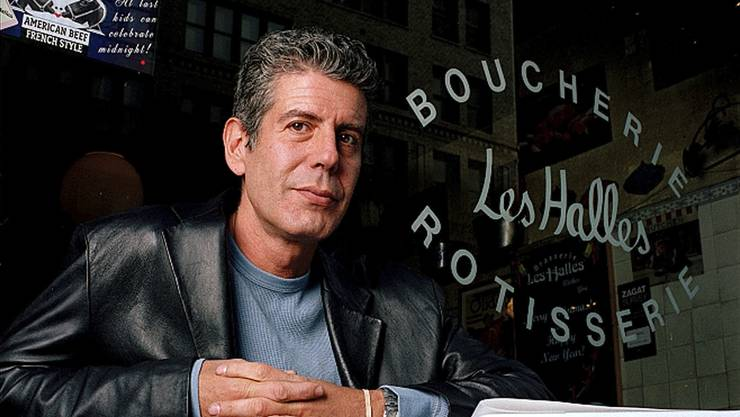 Anthony Bourdain in seinem New Yorker Restaurant.