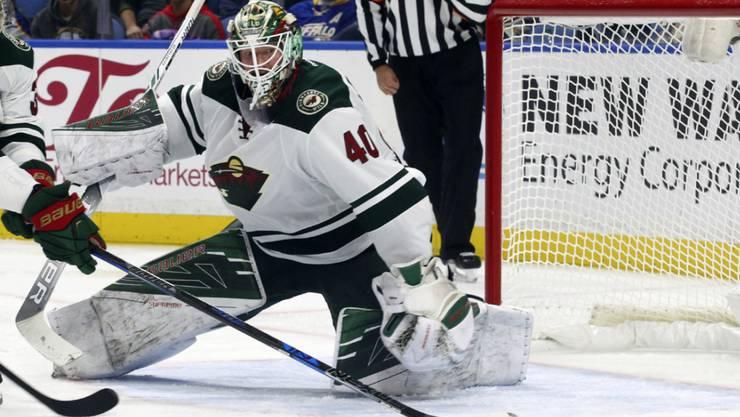 Minnesotas Goalie Devan Dubnyk blieb auch beim 4:0-Sieg gegen die Buffalo Sabres ohne Gegentreffer