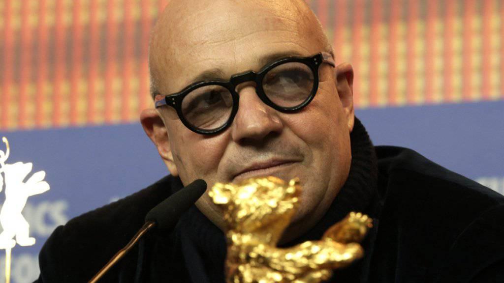 """Er hat den 66. Berliner Filmfestspielen das """"Herz der Berlinale"""" beschert: """"Fuocomare""""-Regisseur und Gewinner des Goldenen Bären Gianfranco Rosi."""