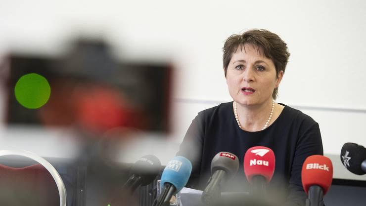 Grün oder Rot? Wie der Bericht zum Departement von Franziska Roth ausfiel, ist bis heute unbekannt.