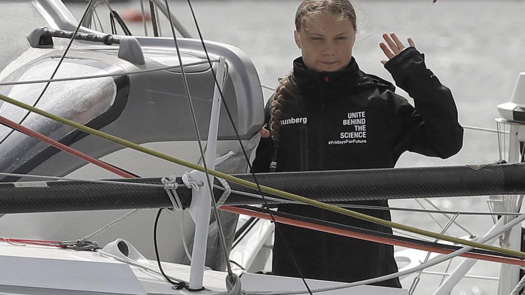 Schaffte es in der ersten Nacht ihrer Jachtfahrt von Europa aus in die USA 65 Seemeilen weit: die schwedische Umweltaktivistin Great Thunberg.