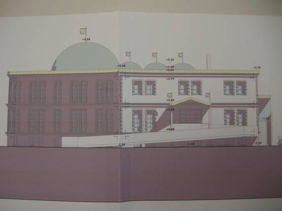 Der Moscheeplan der geplanten Moschee Grenchen.