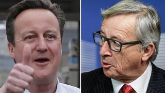 Müssen miteinander einig werden: Englands Premier David Cameron (links) und EU-Kommissionspräsident Jean-Claude Juncker.