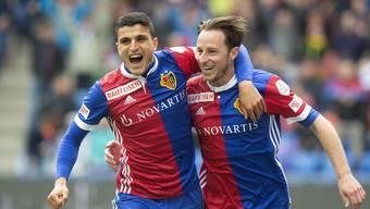 92 Mal freute sich der FC Basel über ein Tor. Elyounoussi jubelte am meisten.