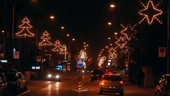 Weihnachtsbeleuchtung in Wettingen