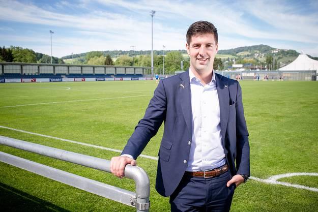 Manuel Huber, 27-jährig, aufgewachsen in Fislisbach, wohnhaft in Oberrohrdorf, ist Geschäftsführer der Grasshoppers.