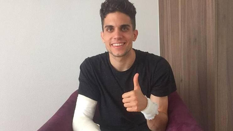 Grüsste die Fans nach seiner Operation aus dem Spital: BVB-Verteidiger Marc Bartra.