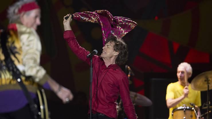 Die Rolling Stones - hier vorletzte Woche im Maracana Stadion in Rio de Janeiro - geben am 25. März in Kuba ein Gratiskonzert.