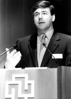 Josef Ackermann 1994 als Präsident der Credit Suisse