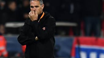 Trotz des Sieges kommt bei Luganos Coach Pierluigi Tami keine Freude auf