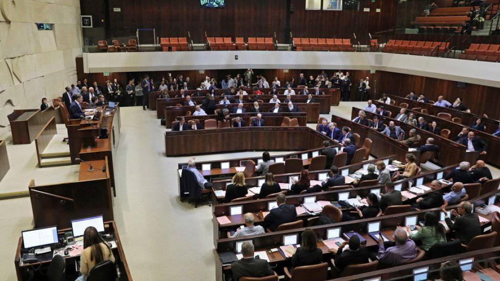 Die Knesset hat sich am Mittwoch aufgelöst.