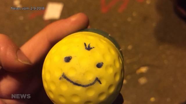 Polizei schoss tatsächlich mit einem Gummischrot-Smiley