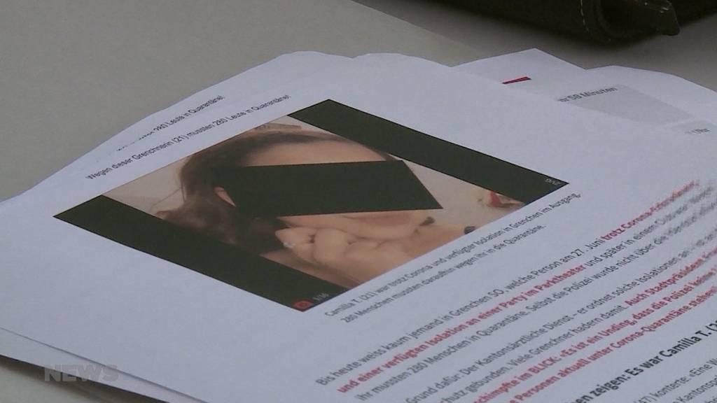 Beschwerde gegen Solothurner Contact Tracing abgelehnt: Angebliche Corona-Superspreaderin wehrt sich vergebens