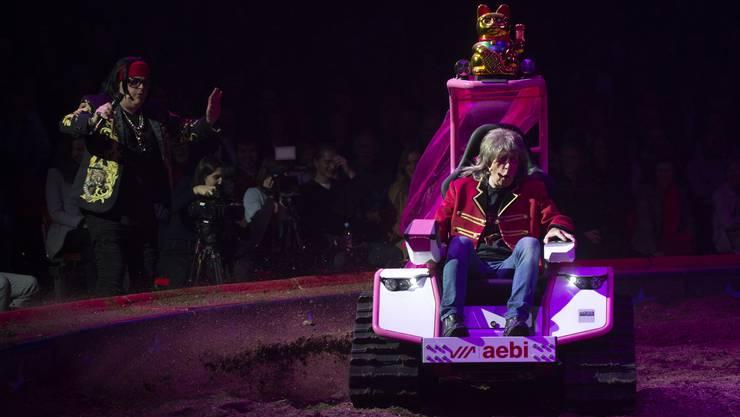 Giacobbo / Müller an der Premiere zur 100-Jahr-Jubiläumstournee des Circus Knie