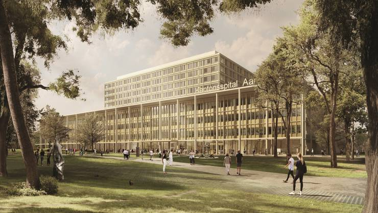 So sieht das neue Kantonsspital aus.