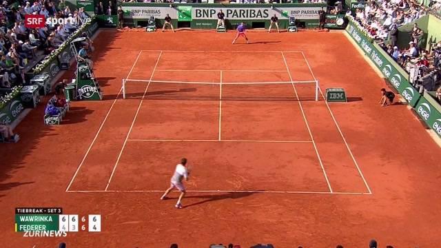 Wawrinka siegt gegen Roger Federer