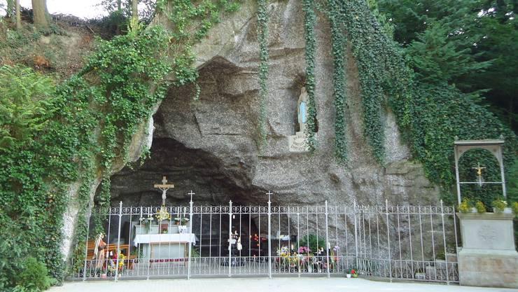 Die Lourdesgrotte in Leuggern. (Archiv)