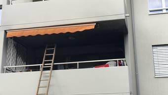 Brand auf Balkon in Neuenhof