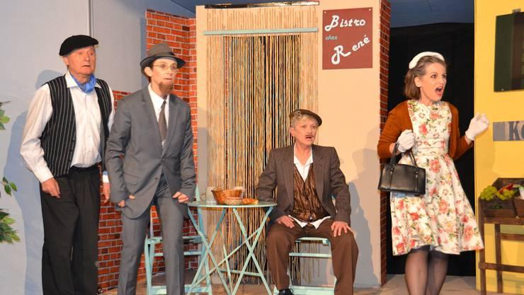 Die «Melliger Spiellüüt» führen Eugène Ionescos «Die Nashörner» von 1957 auf. Heute Abend feiert das Stück Premiere. HO