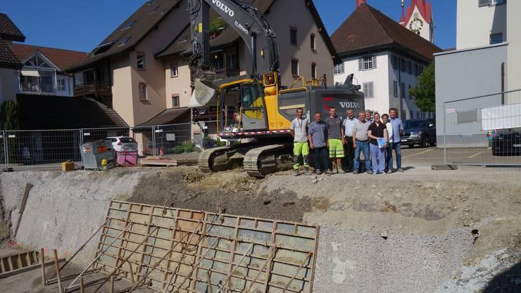Die Baugrube ist ausgehoben, jetzt geht es im Zentrum von Muri an den Bau der zusätzlichen Alterswohnungen.