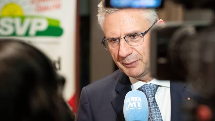 Andreas Glarner, der neue Präsident der SVP des Kantons Aargau, will auch Präsident der SVP Schweiz werden.