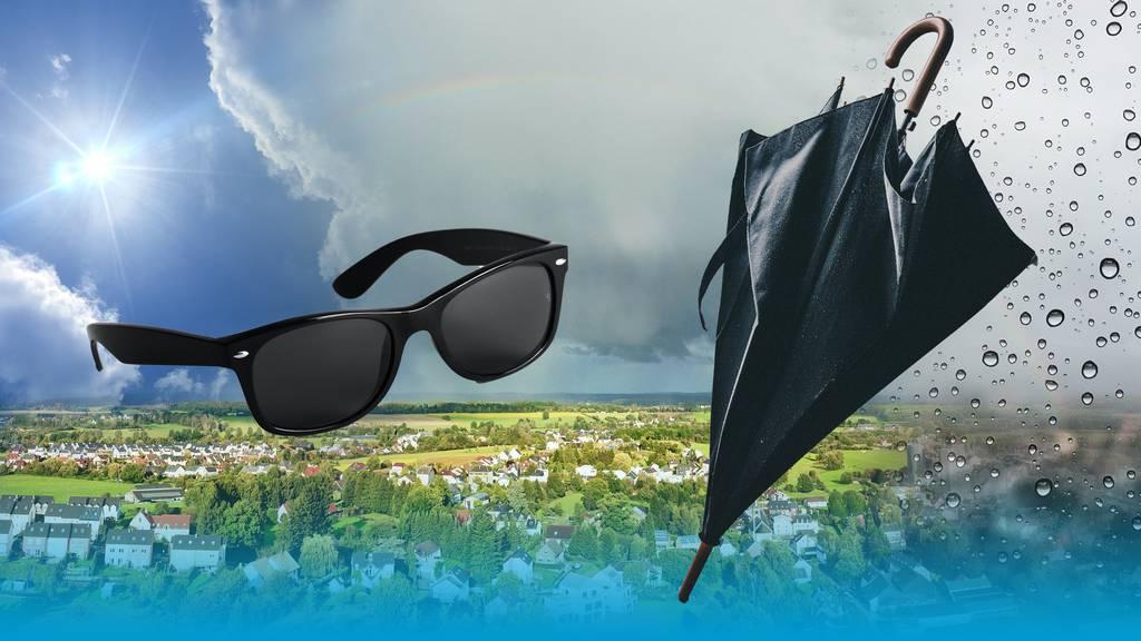 Am Wochenende sind Sonnenbrille und Regenschirm angesagt