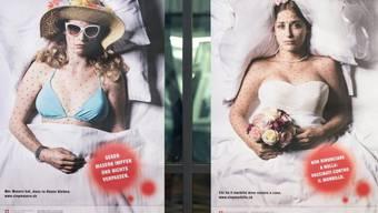 Impfaufruf über Plakate