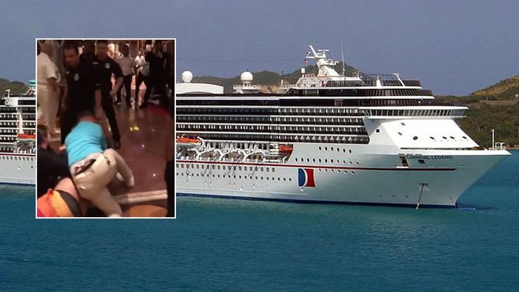 """Auf der """"Carnival Legend"""" prügelten sich über zwei Dutzend Passagiere."""