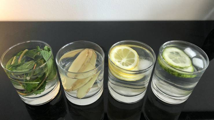 Minze, Zitrone, Inger oder Gurke: Für jeden Geschmack ist etwas dabei.