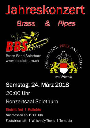 Brass Band und Dudelsäcke verzaubern den Konzertsaal