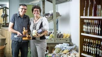 Monika und Konrad Winistörfer eröffnen in Aarau ein Lädeli. Chris Iseli