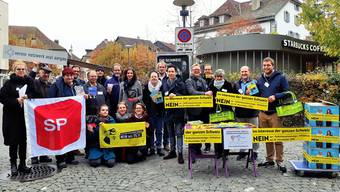 Gemeinsam am Aktionstag Nein sagt sonst oft die SVP, nun sagen (fast) alle anderen Nein zur SVP-Initiative.