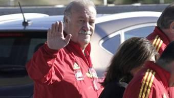 Spanien-Coach Vicente del Bosque bei der Ankunft auf Mallorca