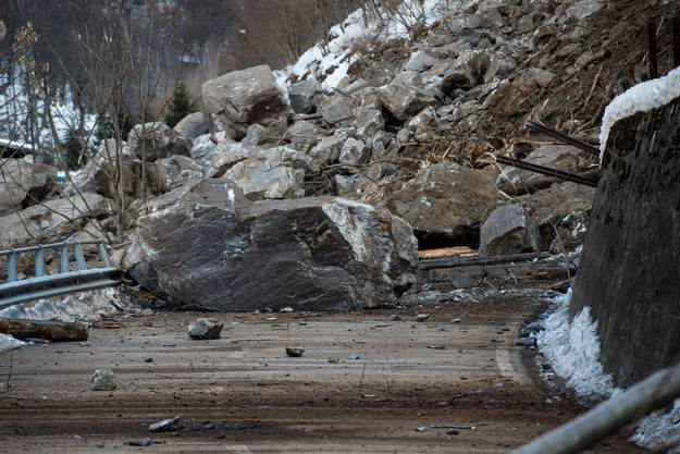 Eine Gefahr von weiteren Felsabbrüchen besteht laut Geologen nicht.