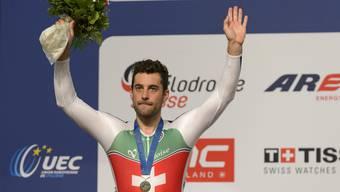 Am Schluss hat er nochmals auf die Zähne gebissen: Tristan Marguet holt im Velodrome von Grenchen spektakulär die Silbermedaille.