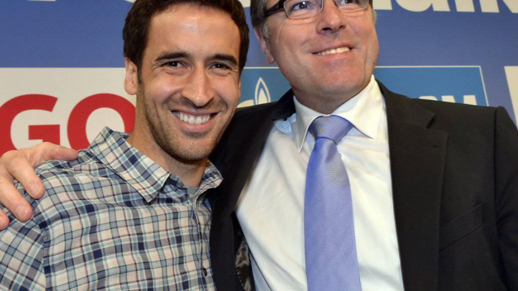 Schalkes Chef Clemens Tönnies (rechts) kommt glimpflich davon