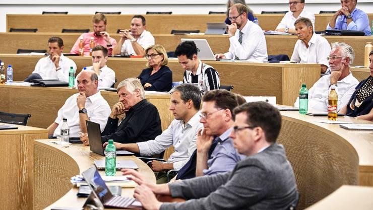 Einwohnerrat Aarau, aufgenommen während der Stadion Debatte am 26. August 2019.