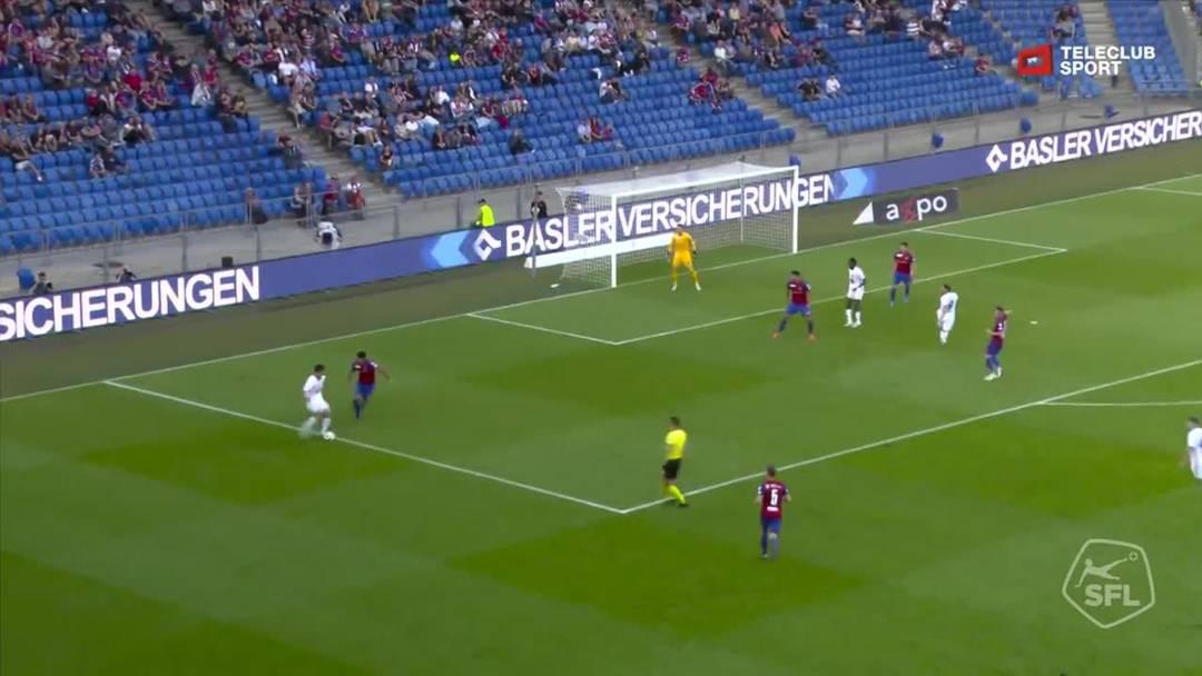 Super League, Saison 2019/20, 9.Runde: FC Basel - FC Luzern, 38. Minute