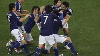 Titelfeier der Japaner