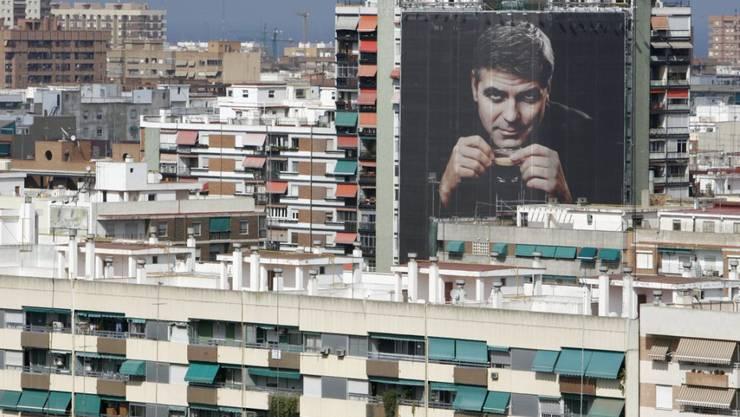 Hollywood-Star Georg Clooney macht weltweit Werbung für Nespresso, hier im spanischen Valencia. (Archivbild)