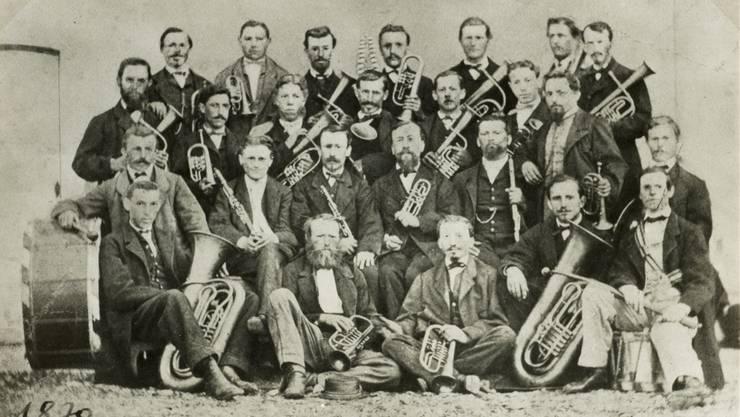 Der Musikverein Wohlen bietet fünf Jahre nach der Gründung ein geschlossenes Bild, es standen ihm allerdings einige Krisen bevor. zvg