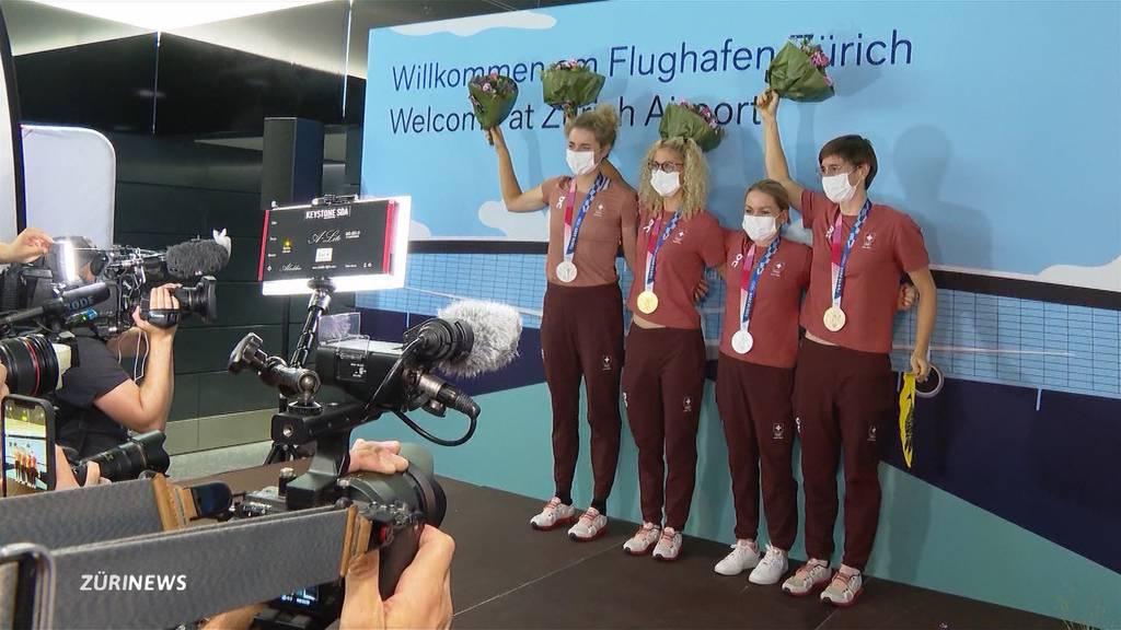 Velo-Olympia-Heldinnen sind zurück in der Schweiz