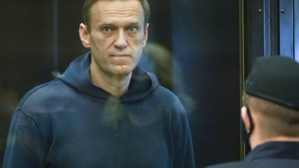 dpatopbilder - ARCHIV - Dieses vom Bezirksgericht Babuskinsky zur Verfügung gestellte Bild zeigt den russischen Oppositionsführer Alexej Nawalny. Foto: Uncredited/Moscow City Court/dpa