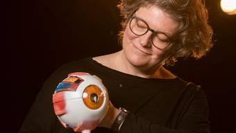 Annette Burkhardt, vom Optik-Geschäft auf die Bühne.