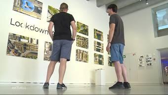 Im Stadtmuseum Aarau wird die Corona-Krise bildlich ausgestellt