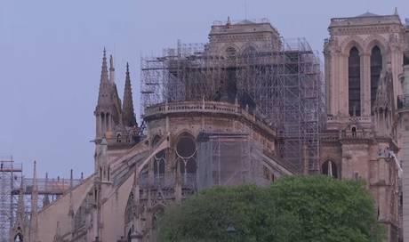 Im Video: die Notre-Dame am Morgen nach dem verheerenden Brand