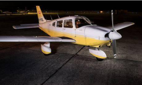 Beim abgestürzten Flugzeug handelt es sich um eine Piper der Flugschule Basel.