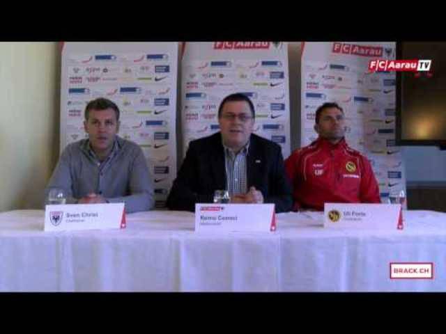 FC Aarau - BSC Young Boys: Interview mit Torschütze Petar Sliskovic und die Medienkonferenz mit den Trainern Sven Christ und Uli Forte.