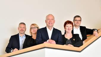 Von links Thomas Marbet, Marion Rauber, Martin Wey, Iris Schelbert und Benvenuto Savoldelli