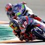 Tom Lüthi unterwegs auf dem Circuit in Valencia, wo das 19. und letzte Moto2-Rennen dieser Saison ausgetragen wird